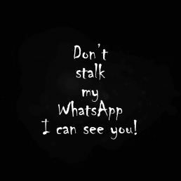 Don't stalk my WhatsApp - I can see you! Profilbild