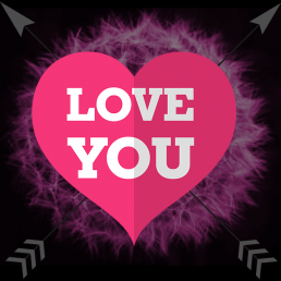 Ich liebe dich! Ein Profilbild mit Herz.